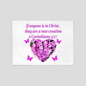 2 Corinthians 5:17 5'x7'Area Rug