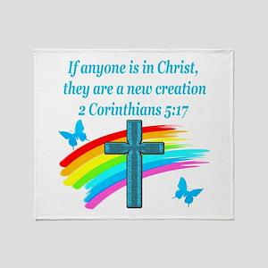 2 Corinthians 5:17 Throw Blanket