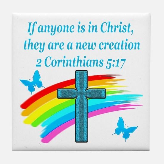 2 Corinthians 5:17 Tile Coaster