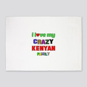 I love my crazy Kenyan family 5'x7'Area Rug