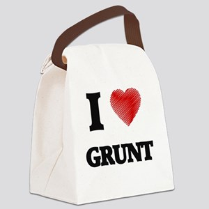 I love Grunt Canvas Lunch Bag