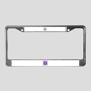 I love my crazy Lebanese famil License Plate Frame