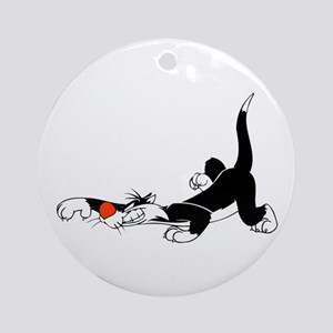 Sylvester sleeping Round Ornament