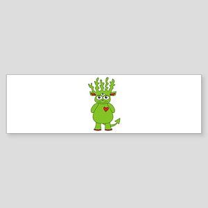 Green Antler Monster Bumper Sticker