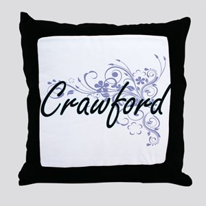 Crawford surname artistic design with Throw Pillow