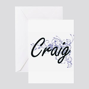 Craig surname artistic design with Greeting Cards