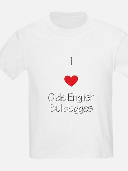 I love Olde English Bulldogges T-Shirt