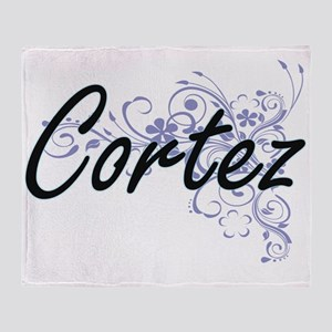 Cortez surname artistic design with Throw Blanket
