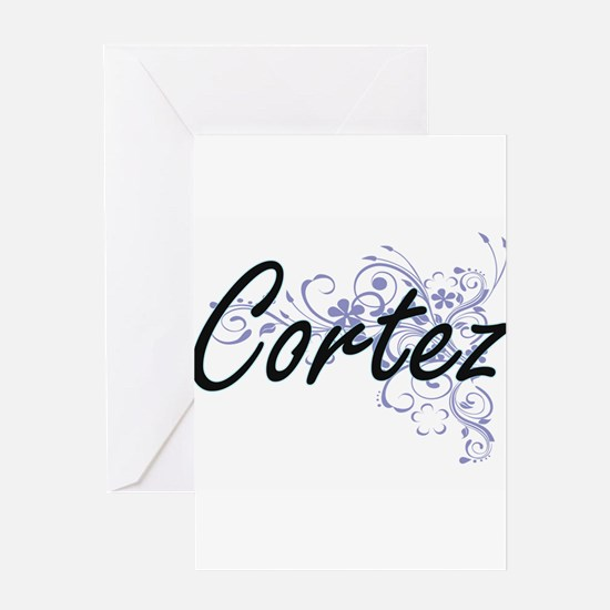Cortez surname artistic design with Greeting Cards