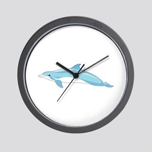 Blue Dolphin Wall Clock