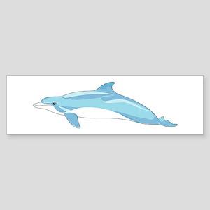 Blue Dolphin Bumper Sticker