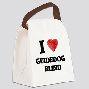 I love Guidedog Blind Canvas Lunch Bag