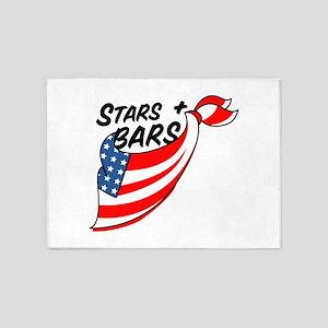 Stars & Bars 5'x7'Area Rug