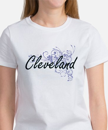 Cleveland surname artistic design with Flo T-Shirt
