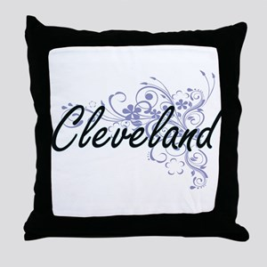 Cleveland surname artistic design wit Throw Pillow