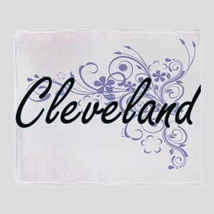 Cleveland surname artistic design wi Throw Blanket