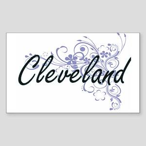 Cleveland surname artistic design with Flo Sticker