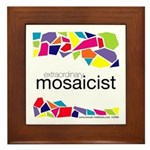 Extraordinary Mosaicist Framed Tile