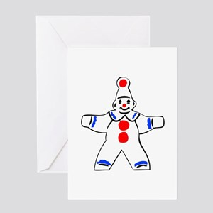 Simple clown figure Greeting Cards