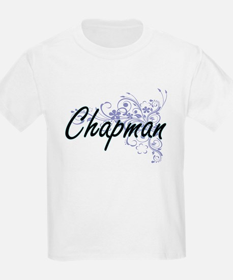 Chapman surname artistic design with Flowe T-Shirt
