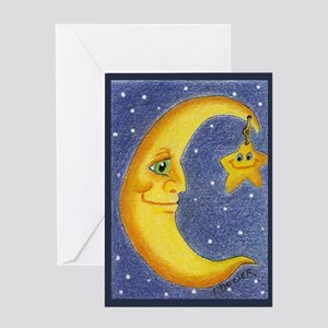 Moon & Star Greeting Card