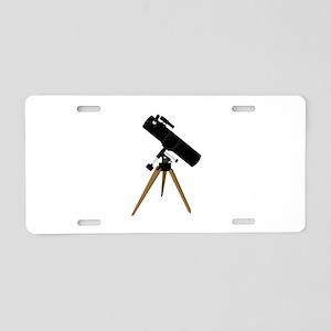 Reflector telescope Aluminum License Plate