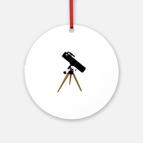 Reflector telescope Round Ornament