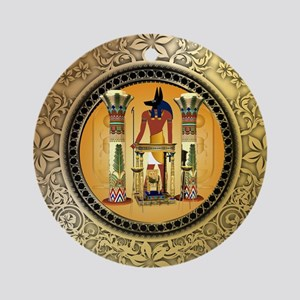 Anubis Round Ornament