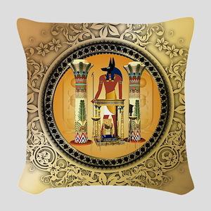 Anubis Woven Throw Pillow