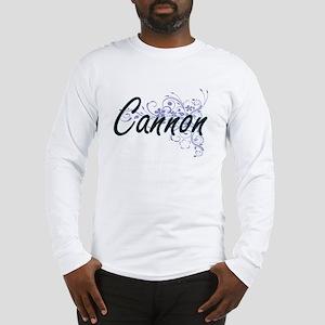 Cannon surname artistic design Long Sleeve T-Shirt