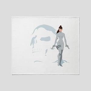 Skull crusher Throw Blanket