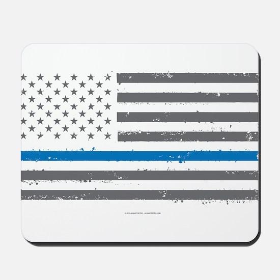 Law Enforcement Blue Line Flag Mousepad