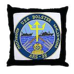 USS Bolster (ARS 38) Throw Pillow