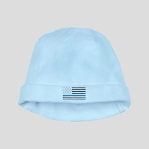 Law Enforcement Blue Line Flag Baby Hat