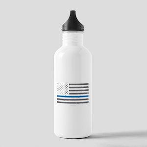 Law Enforcement Blue L Stainless Water Bottle 1.0L