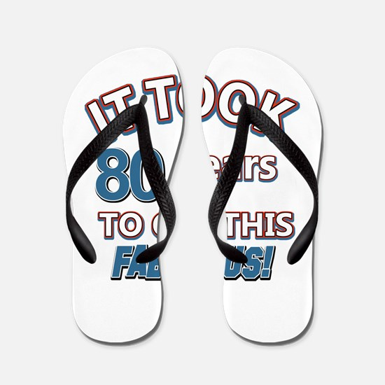 74 Years Birthday Designs Flip Flops