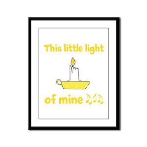 This Little Light Of Mine Framed Panel Print
