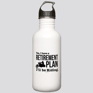 Riding Retirement Plan Stainless Water Bottle 1.0L
