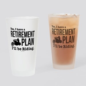 Riding Retirement Plan Drinking Glass