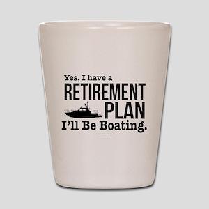 Boating Retirement Shot Glass