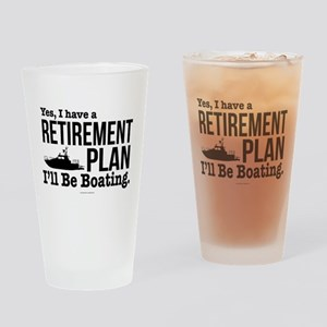 Boating Retirement Drinking Glass