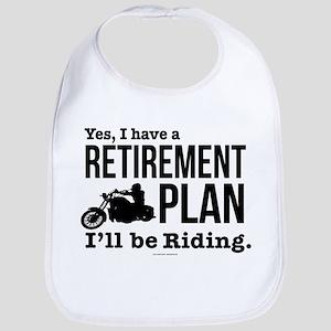 Riding Retirement Plan Baby Bib