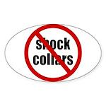 No Shock Collar Oval Sticker