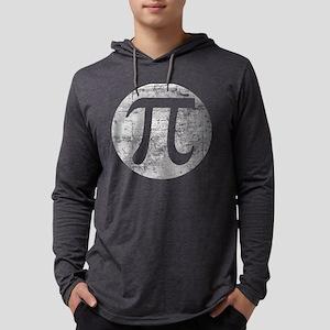 Distressed Vintage Pi Logo Long Sleeve T-Shirt
