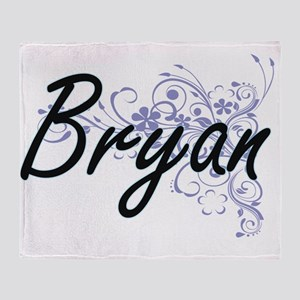 Bryan surname artistic design with F Throw Blanket