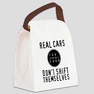 Real Cars Don't Shift Themsel Canvas Lunch Bag