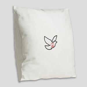 The dove Burlap Throw Pillow