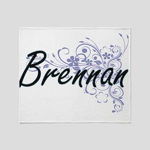 Brennan surname artistic design with Throw Blanket