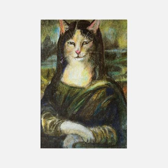 Mona Lisa's Cat Magnet