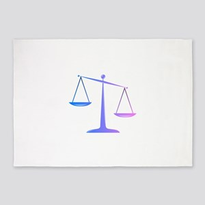 Scales of justice colored glassy ef 5'x7'Area Rug